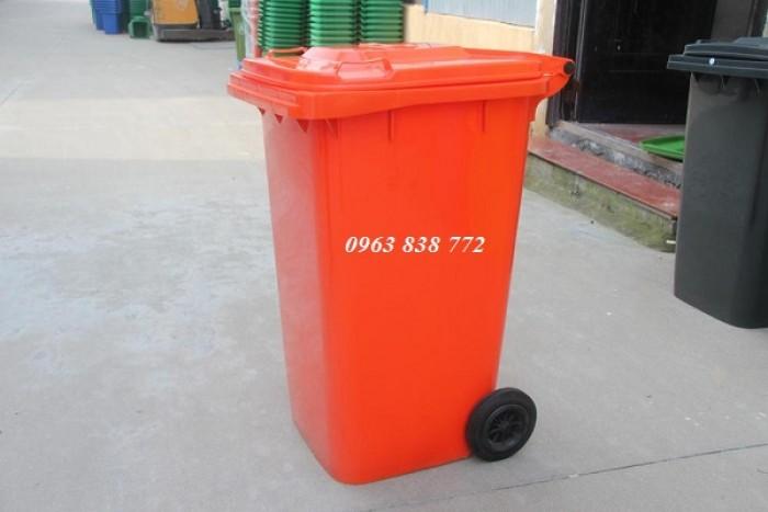 Thùng rác nhựa hdpe dung tích 240 lít | 0963 838 7720