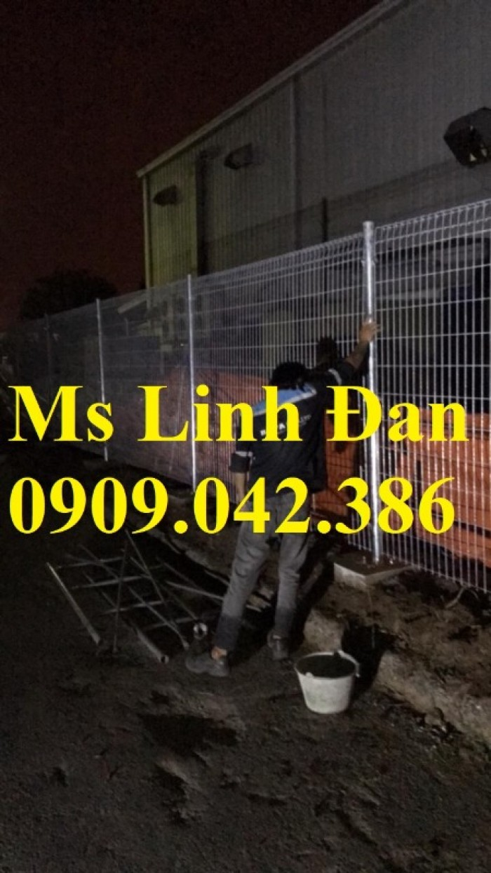 Lưới thép hàng rào gập tam giác 2 đầu mạ kẽm, hàng rào sơn tĩnh điện,1