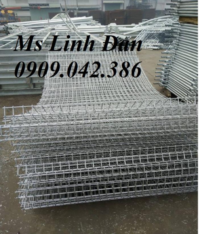 Lưới thép hàng rào gập tam giác 2 đầu mạ kẽm, hàng rào sơn tĩnh điện,4