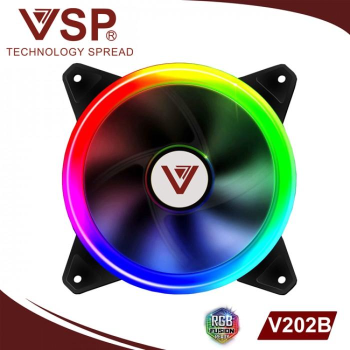 Fan Case VSP V202B Led 2 mặt tự động chuyển màu, gắn trực tiếp lên nguồn1