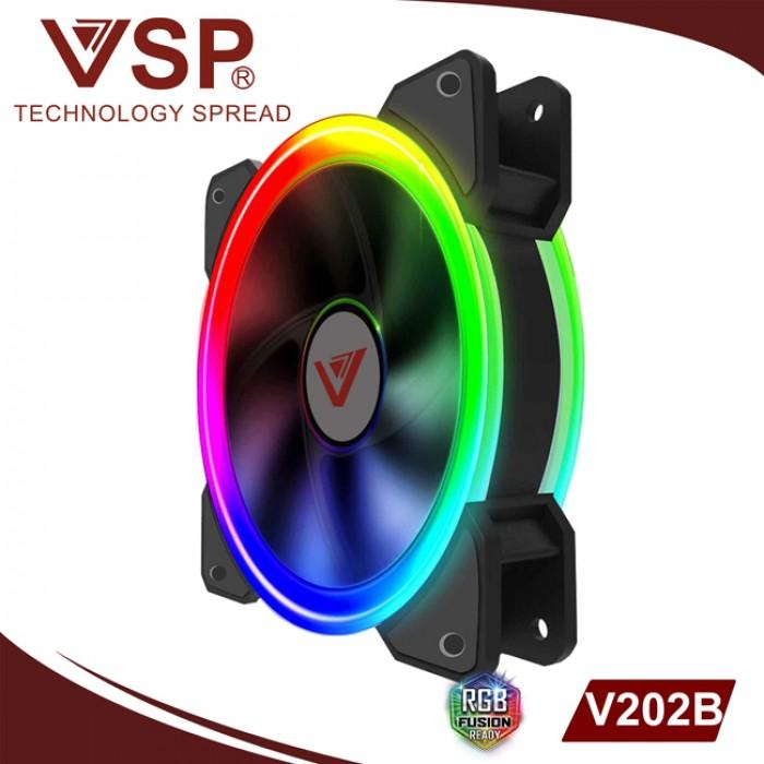 Fan Case VSP V202B Led 2 mặt tự động chuyển màu, gắn trực tiếp lên nguồn0