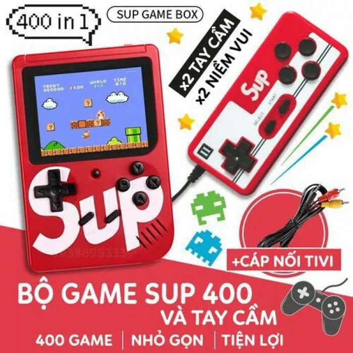 Máy chơi game sup 400 in 1 có tay cầm hỗ trợ 2 người chơi game0