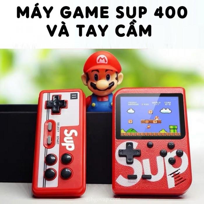 Máy chơi game sup 400 in 1 có tay cầm hỗ trợ 2 người chơi game1