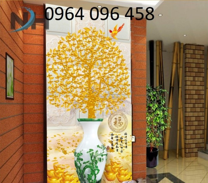 Gạch tranh dán tường 3d sứ ngọc - 45S3