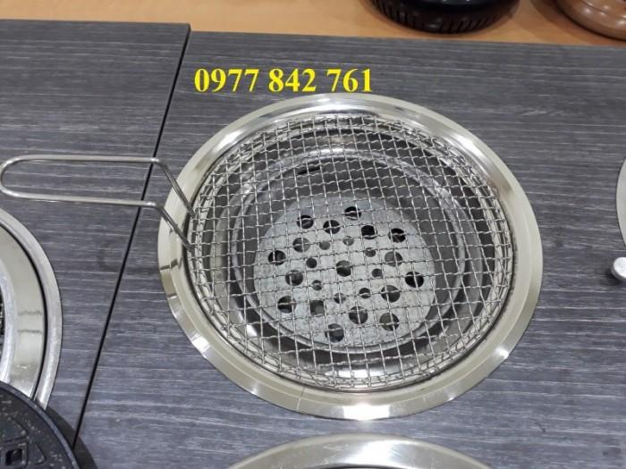 Bếp lẩu nướng than hoa chất liệu inox cao cấp đặt âm bàn1
