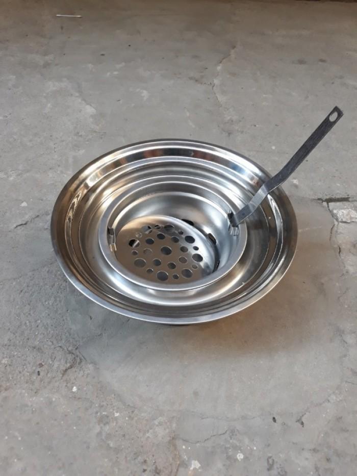 Bếp lẩu nướng than hoa chất liệu inox cao cấp đặt âm bàn3