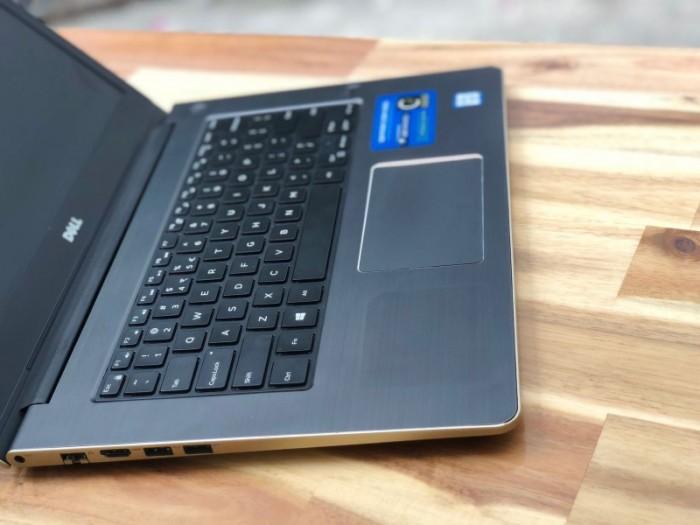 Laptop Dell Vostro V5459 màu gold, i5 6200U SSD128-500G Vga 930M Đèn phím Đẹp1