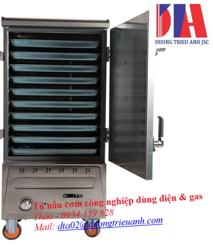 Tủ nấu cơm công nghiệp Việt Nam dùng điện & gas0