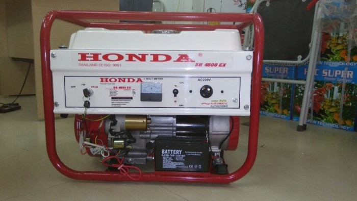 Nhà phân phối máy phát điện Honda SH4500 3kw dùng cho gia đình0