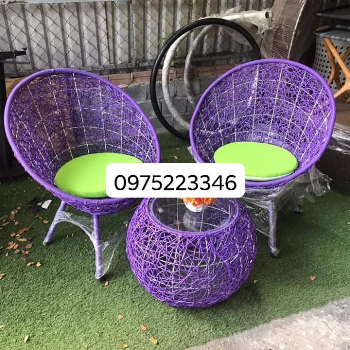 Sản xuất và cung cấp bàn ghế cafe nhựa giả mây dùng cho cafe, nhà hàng..1