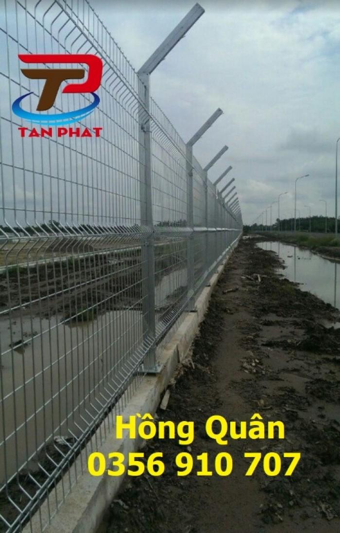 Hàng rào lưới thép hàn, hàng rào mạ kẽm dây 5ly mắt 50*200 giá tốt3