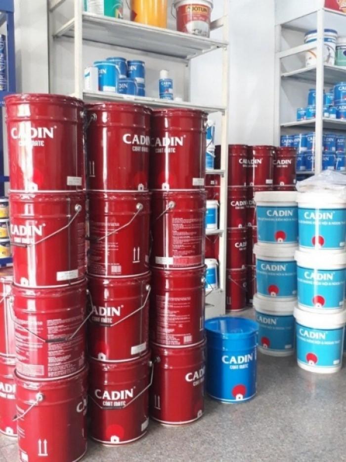 Đại lý bán sơn chống rỉ CADIN màu đỏ thùng 17,5 lít giá rẻ nhất tại TPHCM0