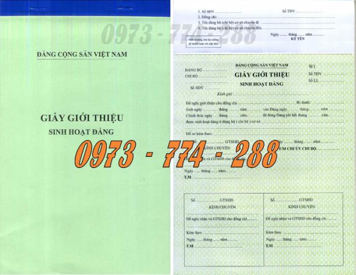 Xưởng in lý lịch của người xin vào Đảng (mẫu 2-KNĐ) và lý lịch Đảng viên mẫu (1-HSĐV)17