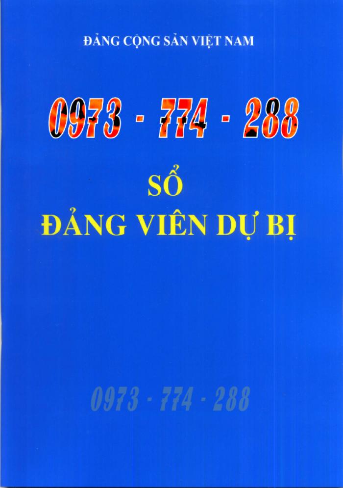 Xưởng in lý lịch của người xin vào Đảng (mẫu 2-KNĐ) và lý lịch Đảng viên mẫu (1-HSĐV)18