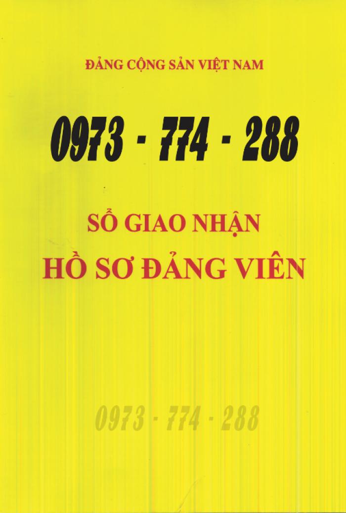 Xưởng in lý lịch của người xin vào Đảng (mẫu 2-KNĐ) và lý lịch Đảng viên mẫu (1-HSĐV)20