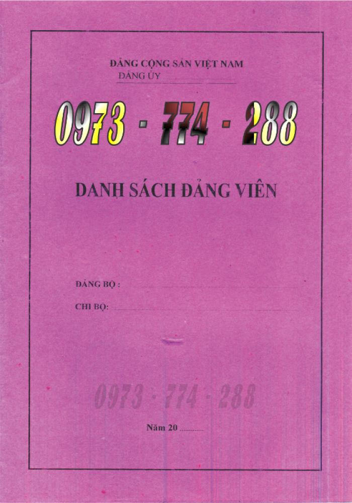 Xưởng in lý lịch của người xin vào Đảng (mẫu 2-KNĐ) và lý lịch Đảng viên mẫu (1-HSĐV)21