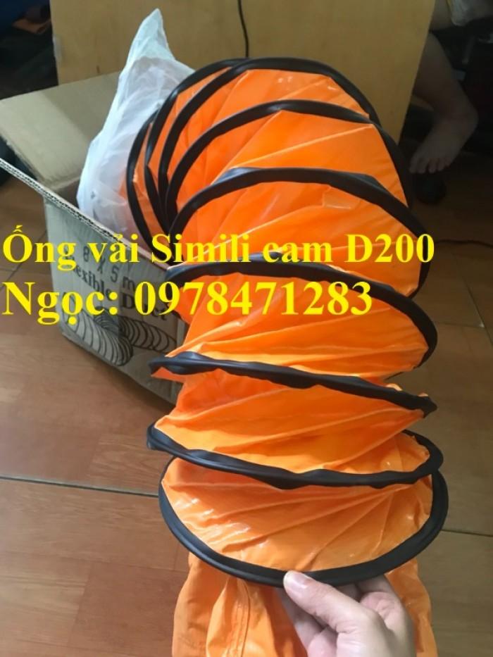 Tổng đại lý ống gió vải Simili cam D200, D250, D300, D350, D400 hàng có sẵn2