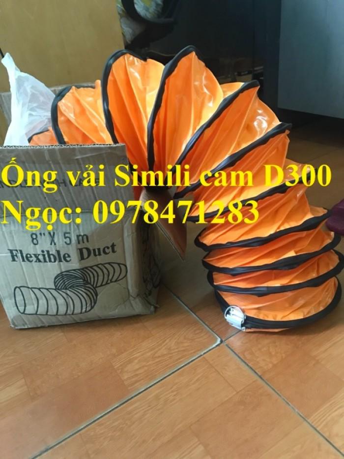 Tổng đại lý ống gió vải Simili cam D200, D250, D300, D350, D400 hàng có sẵn1