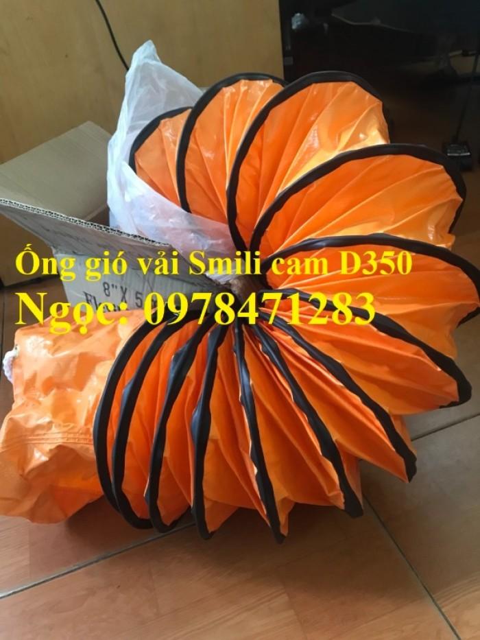 Tổng đại lý ống gió vải Simili cam D200, D250, D300, D350, D400 hàng có sẵn0