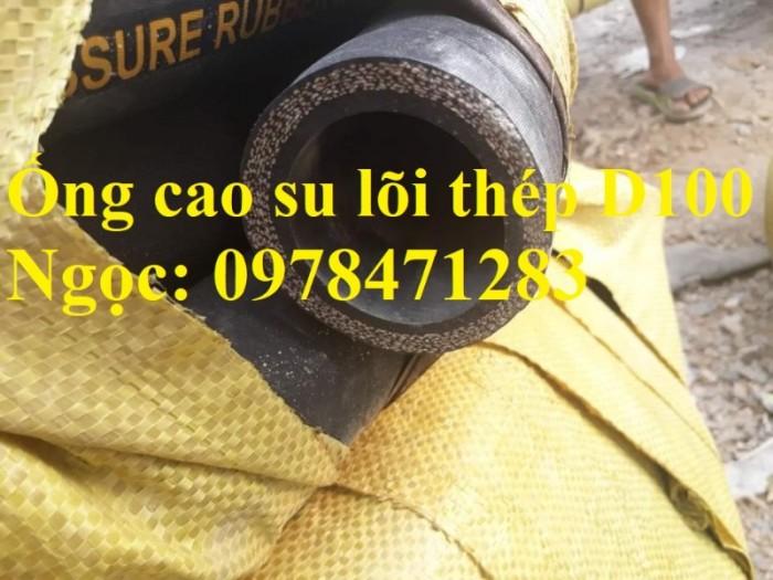 Ống cao su lõi thép hút cát, hút nước D100, D110,D120, D150, D200, D220.0
