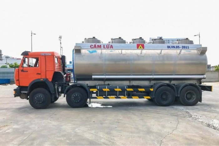 Xe bồn xăng dầu Kamaz 25m3 (Bồn Nhôm) | Xe bồn 25m33