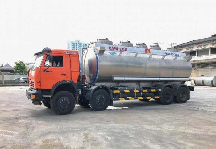 Xe bồn xăng dầu Kamaz 25m3 (Bồn Nhôm) | Xe bồn nhôm 25m3