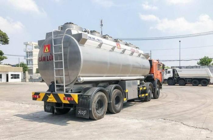 Xe bồn xăng dầu Kamaz 25m3 (Bồn Nhôm) | Xe bồn 25m3