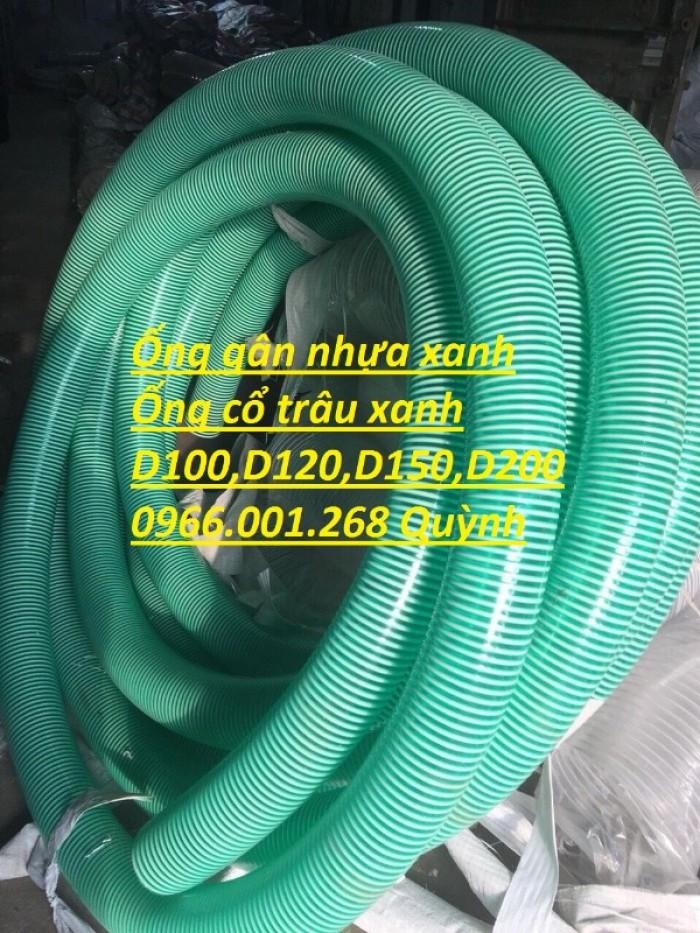 Ống gân nhựa xanh ,ống cổ trâu các loại D90,D100,D114,D125,D150,D168,D2004