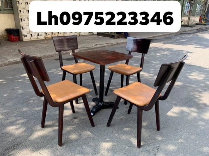 Bàn ghế cafe gỗ sơn P,U..1