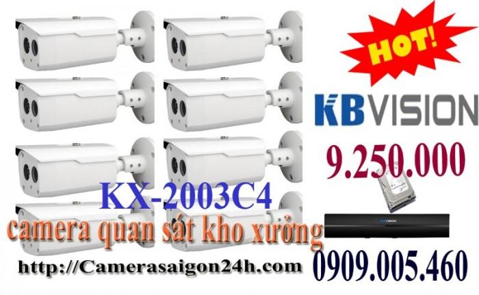 Trọn bộ 8 camera quan sát chất lượng kho xưởng0
