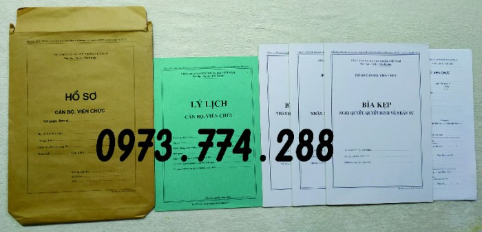 Hồ sơ cán bộ viên chức theo Thông tư số 07/2019/TT-BNV ngày 01/6/2019 của Bộ Nội vụ3
