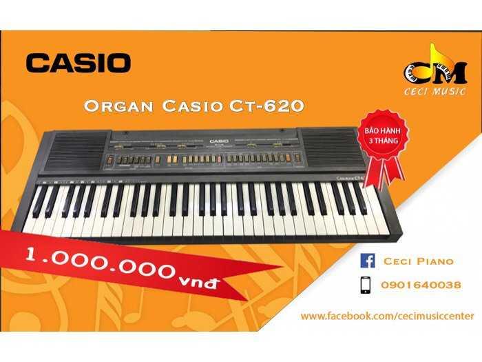 Organ Casio CT620 likenew 90%0