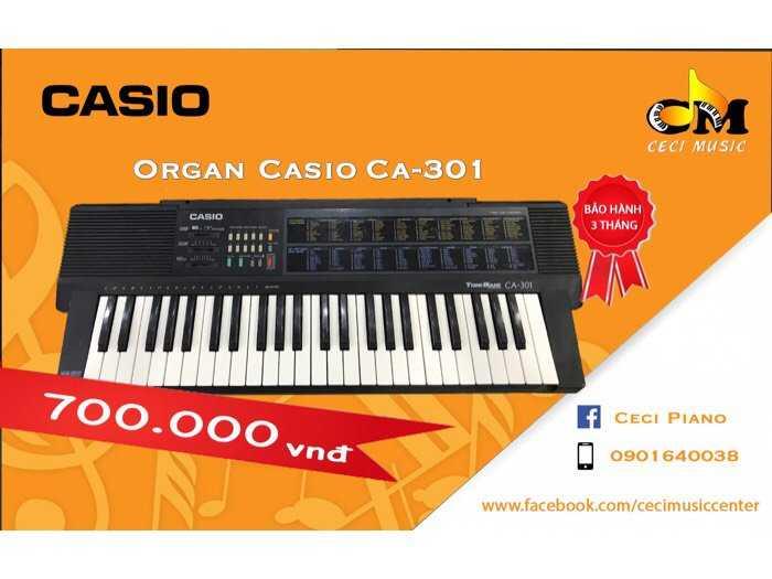 Organ Casio CA301 likenew 90%0