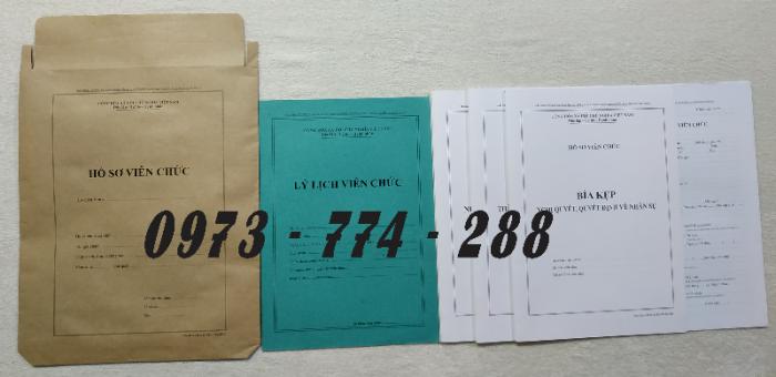 Hồ sơ cán bộ Công chức - Viên chức mẫu các loại1