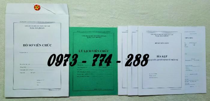 Hồ sơ cán bộ Công chức - Viên chức mẫu các loại2
