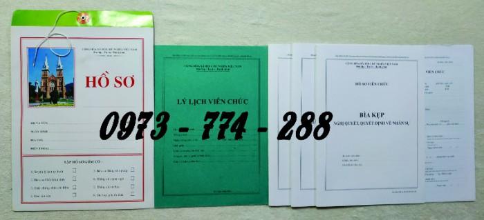 Hồ sơ cán bộ Công chức - Viên chức mẫu các loại3