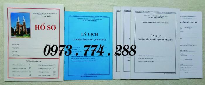 Hồ sơ cán bộ Công chức - Viên chức mẫu các loại4