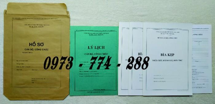 Hồ sơ cán bộ Công chức - Viên chức mẫu các loại5