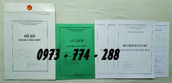 Hồ sơ cán bộ Công chức - Viên chức mẫu các loại7