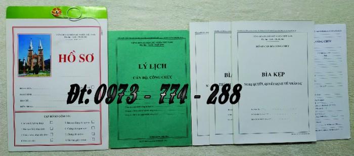 Hồ sơ cán bộ Công chức - Viên chức mẫu các loại8