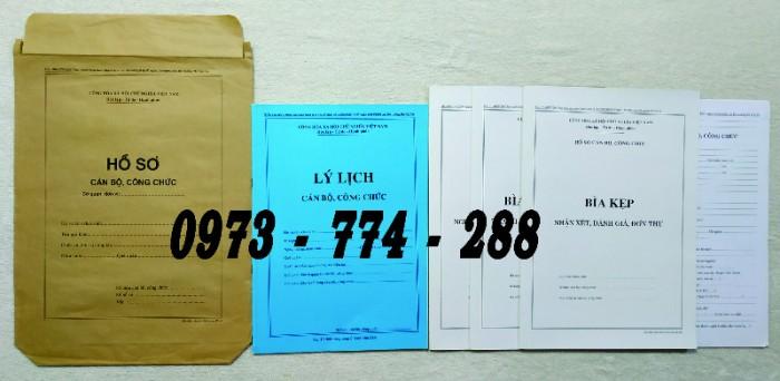 Hồ sơ cán bộ Công chức - Viên chức mẫu các loại9
