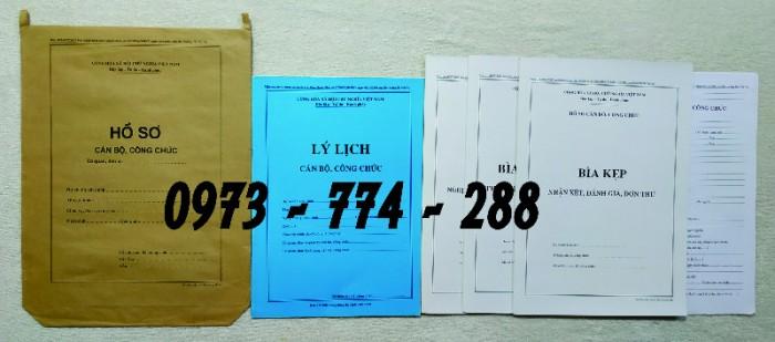 Hồ sơ cán bộ Công chức - Viên chức mẫu các loại10