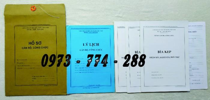 Hồ sơ cán bộ Công chức - Viên chức mẫu các loại11