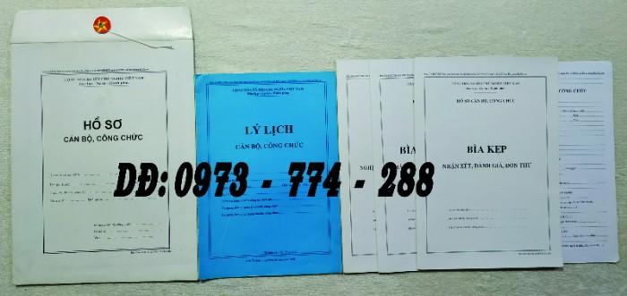 Hồ sơ cán bộ Công chức - Viên chức mẫu các loại12