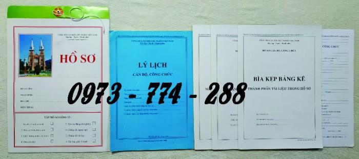 Hồ sơ cán bộ Công chức - Viên chức mẫu các loại13