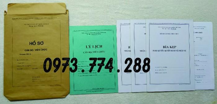 Hồ sơ cán bộ Công chức - Viên chức mẫu các loại14