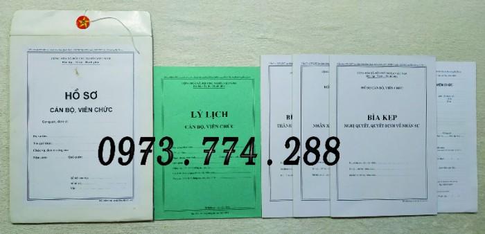 Hồ sơ cán bộ Công chức - Viên chức mẫu các loại15