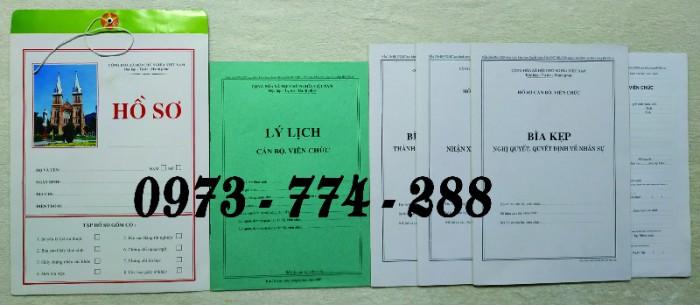 Hồ sơ cán bộ Công chức - Viên chức mẫu các loại16