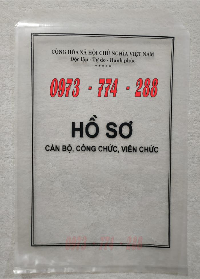 Bán bìa hồ sơ cán bộ công chức30