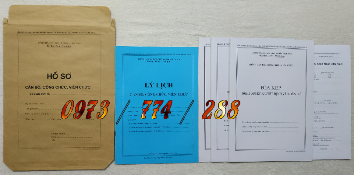 Bộ hồ sơ cán bộ công chức29